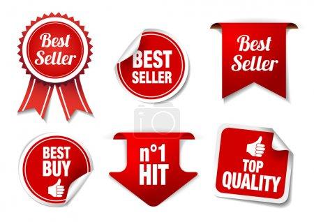 Best Seller Labels and Badges