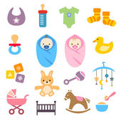 Collection of cute baby icons