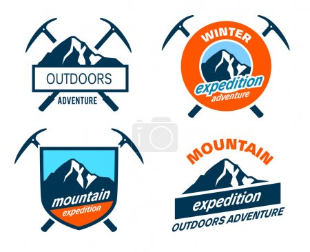Mountain Expedition Badges - Icons