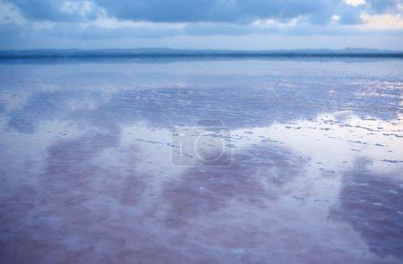 Salty shore of the Laguna Salada de Torrevieja, Spain.