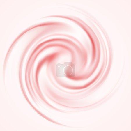 Illustration pour Curl Berry Mousse Vector Arrière-plan pour les travaux savoureux. Opacité EPS10 - image libre de droit