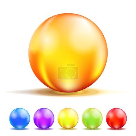 boules de verre de couleur