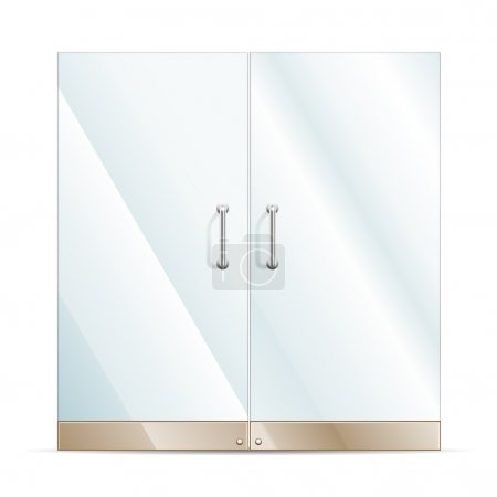 Illustration for Vector Transparent Glass door isolated on white. EPS10 opacity - Royalty Free Image
