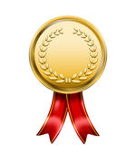 Vector Award Medal Rosette Label isolated on white background