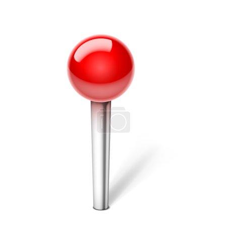Illustration pour Vector push Pin Icon isolé sur fond blanc. Opacité EPS10 - image libre de droit