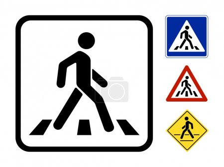 Illustration for Pedestrian Symbol Vector Illustration isolated on white background - Royalty Free Image