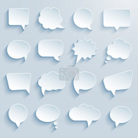 Illustration for Paper communication bubbles on white background vector eps10 illustration - Royalty Free Image