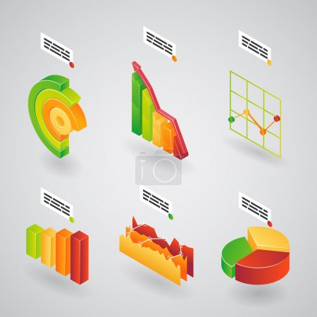 Analytical charts for infographics