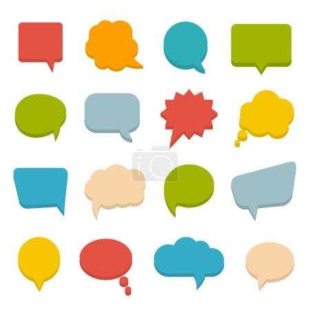Illustration pour Grand ensemble de bulles colorées communication, vecteur eps10 illustration - image libre de droit