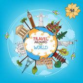 Cestování památky památky po celém světě