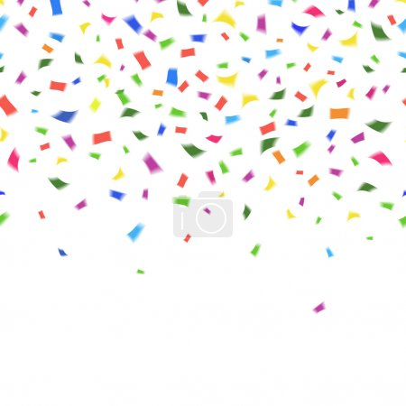 Vector template of vibrant colorful confetti