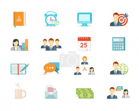 Office work and management icons
