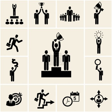 Set of vector business and career icons