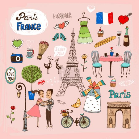 Paris  France landmarks and icons