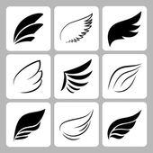 Wings set on white background vector eps10 illustration