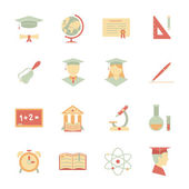 Flat Internet education icons