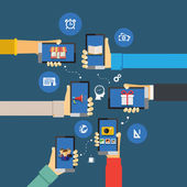 Mobile apps infographics