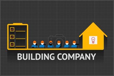Building company emblem