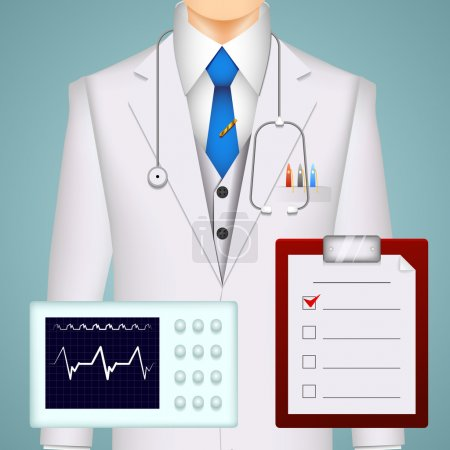 Doctor on medical background
