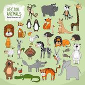 """Постер, картина, фотообои """"рисованной Векторная коллекция диких животных"""""""