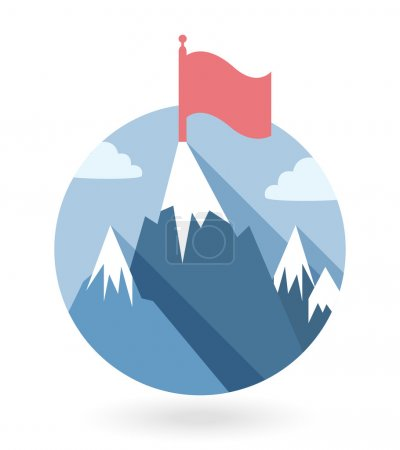 Illustration for Vector winner gamification icon illustration in flat style - Royalty Free Image