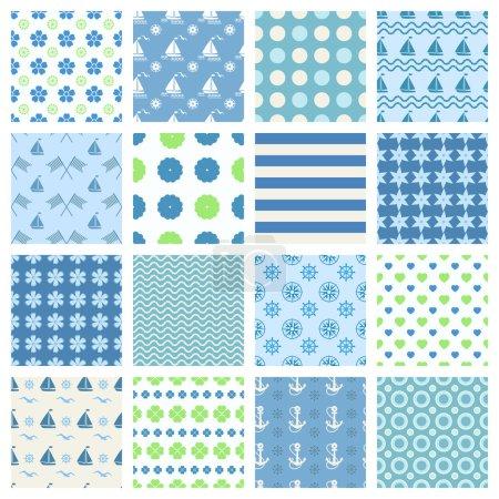marine seamless patterns