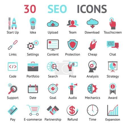 Vector 30 SEO icons