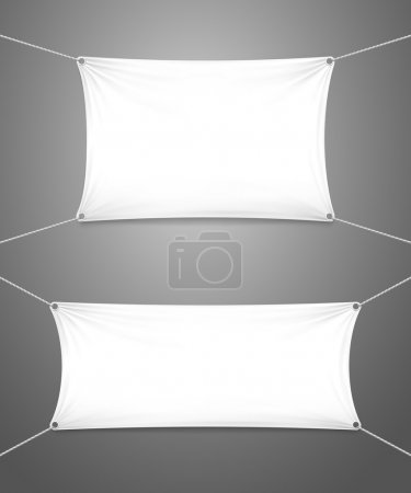 Two blank white banners with copyspace