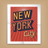 Vector New York City poster