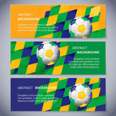 Vector Brazil flag concept banners about football