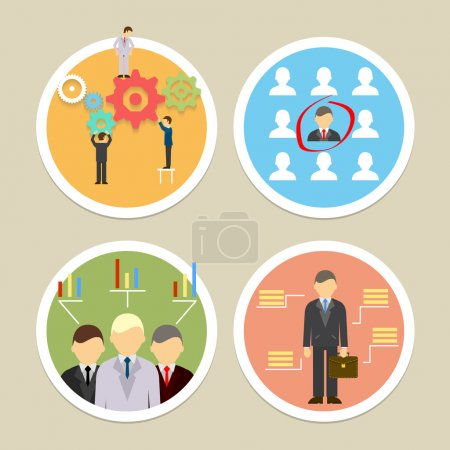 Vector human resources icons