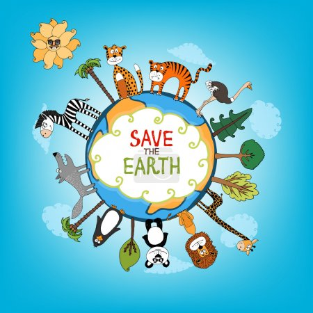 Save The Earth concept illustration
