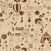 Retro seamless circus background pattern