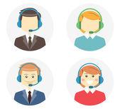 Call center operator icons