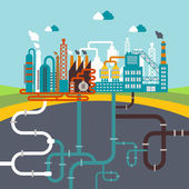 manufacturing factory or refinery plant