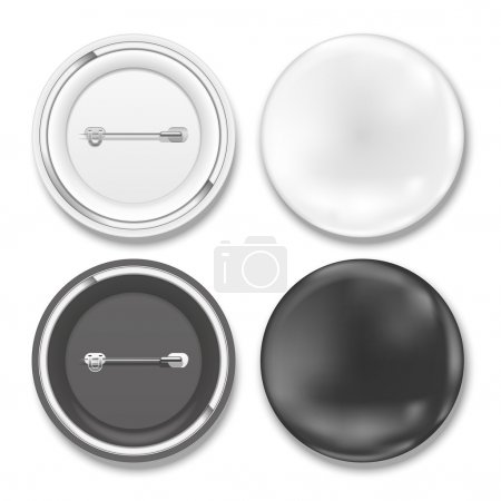 Illustration for Vector black and white badges on white background - Royalty Free Image
