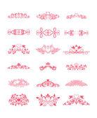 Růžový dekorativní vektor složených prvků