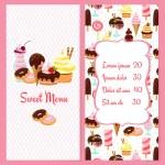 Постер, плакат: Dessert menu template