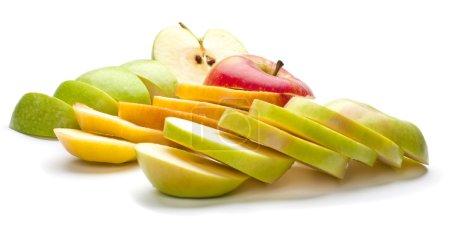 Photo pour Pommes rouges et vertes hachées - image libre de droit