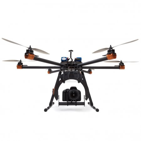 Photo for Large hexacopter with DSLR camera at studio - Royalty Free Image