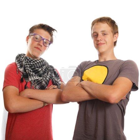 Photo pour Deux amis qui traînent ensemble - image libre de droit
