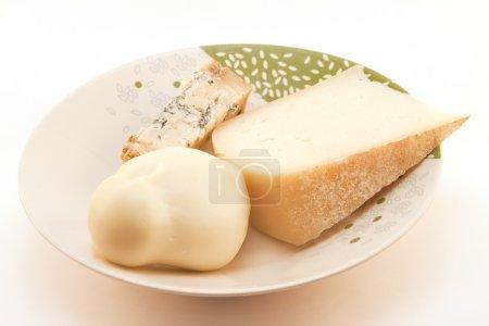 drei Käsesorten im Gericht