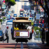 Cable Car in the streets of San Francisco
