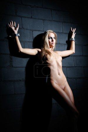 bondage style naked woman