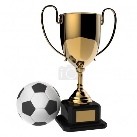 Golden award trophy