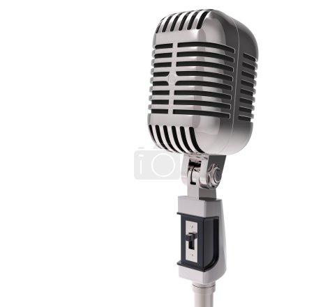 3d Retro microphone.