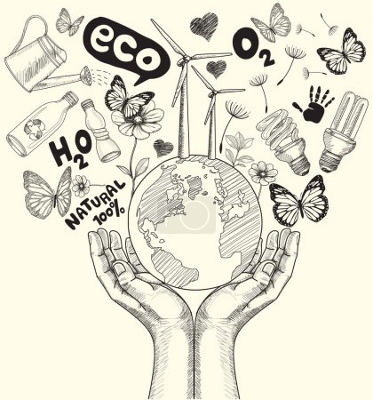Green world concept.