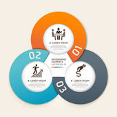 Modern business circle origami style options banner Vector illustration