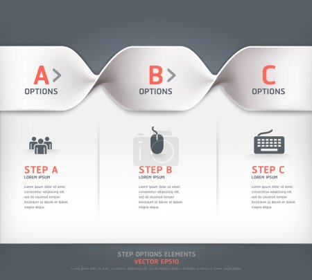 Illustration for Modern spiral step options banner. Vector illustration. Can be used for workflow layout, diagram, number options, web design. - Royalty Free Image