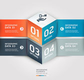Modern cube origami style options banner Vector illustration